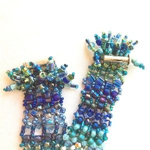 Gorgeous Beaded Bracelet in Blues and Greens